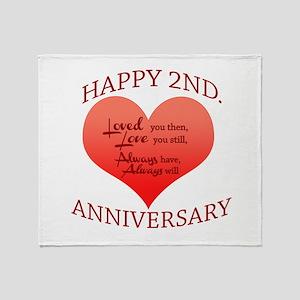5th. Anniversary Throw Blanket