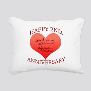 5th. Anniversary Rectangular Canvas Pillow