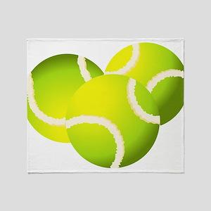 Tennis balls art Throw Blanket