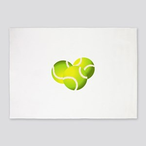 Tennis balls art 5'x7'Area Rug