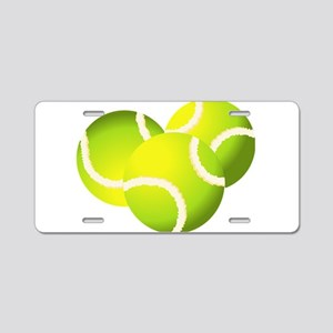 Tennis balls art Aluminum License Plate