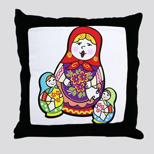 Nesting Dolls Throw Pillow