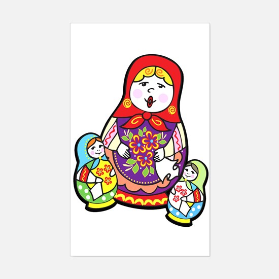 Nesting Dolls Rectangle Decal