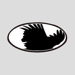 Flying hawk silhouette Patch