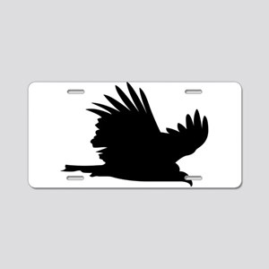 Flying hawk silhouette Aluminum License Plate