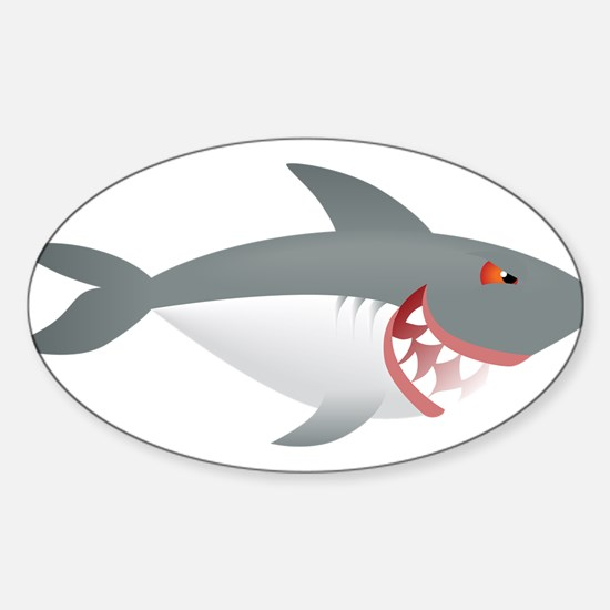Sea animal shark cartoon Decal