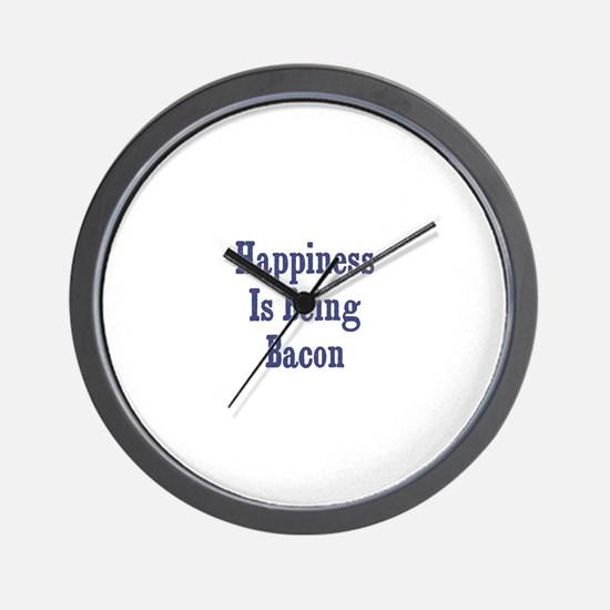 Happiness is being Bacon		 Wall Clock