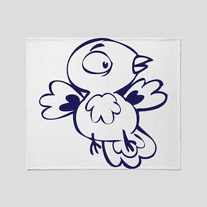 Twitter bird art Throw Blanket