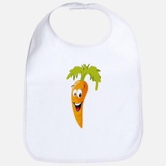 Carrot smiling design Bib