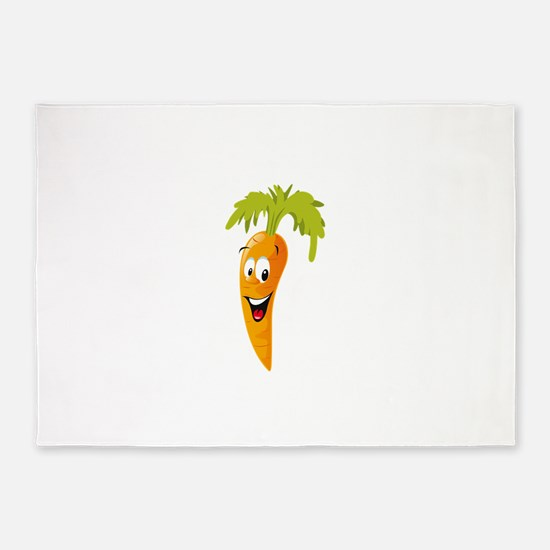 Carrot smiling design 5'x7'Area Rug