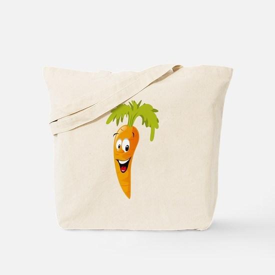 Carrot smiling design Tote Bag