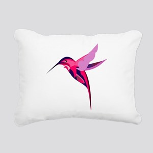 Colorful humming bird Rectangular Canvas Pillow
