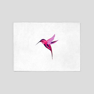Colorful humming bird 5'x7'Area Rug
