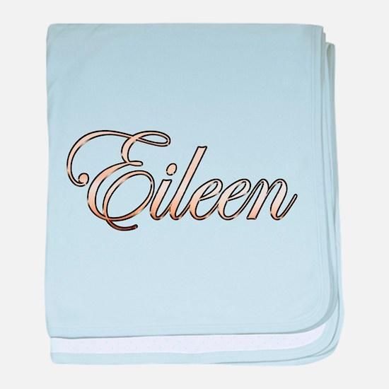 Gold Eileen baby blanket