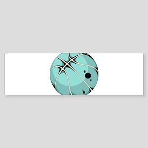 Basketball elements design Bumper Sticker