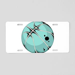 Basketball elements design Aluminum License Plate