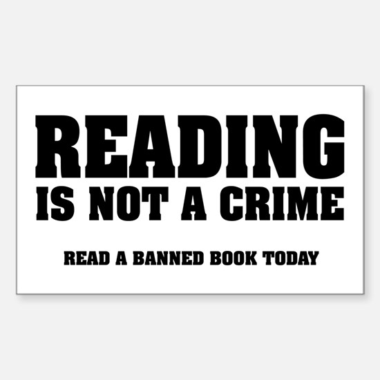 Reading is Not a Crime Rectangle Decal