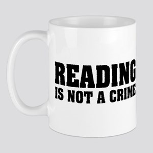 Reading is Not a Crime Mug