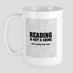 Reading is Not a Crime Large Mug