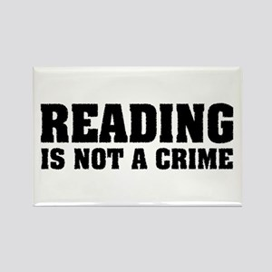 Reading is Not a Crime Rectangle Magnet