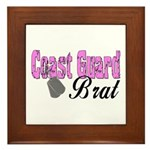 Coast Guard Brat Framed Tile