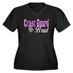 Coast Guard Brat Women's Plus Size V-Neck Dark T-