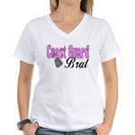 Coast Guard Brat Women's V-Neck T-Shirt