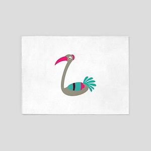 Grey ibis bird cartoon 5'x7'Area Rug
