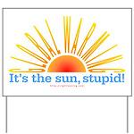 Global Warming Sun Yard Sign