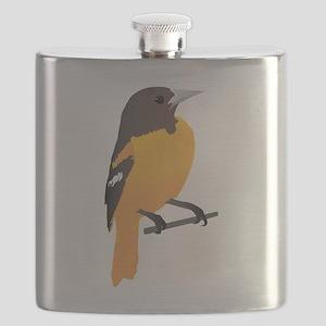 Baltimore oriole bird Flask