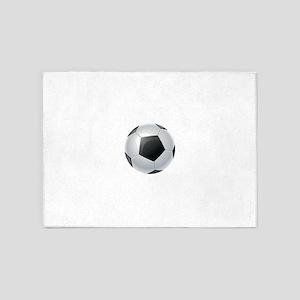 Reflective football image 5'x7'Area Rug