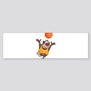 Funny animals with basketball Bumper Sticker
