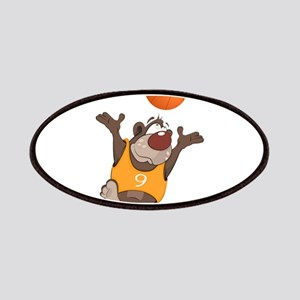 Funny animals with basketball Patch
