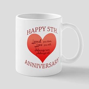 5th. Anniversary Mugs