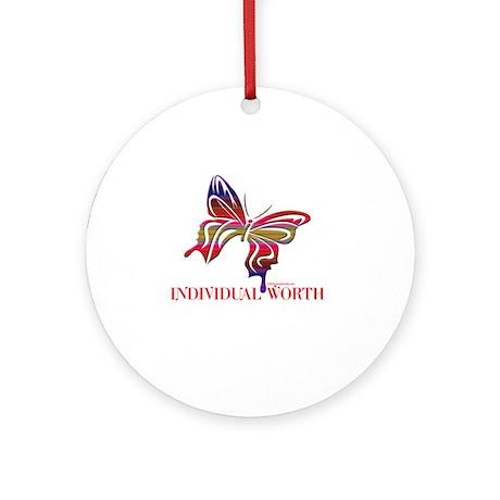 INDIVIDUAL WORTH Ornament (Round)