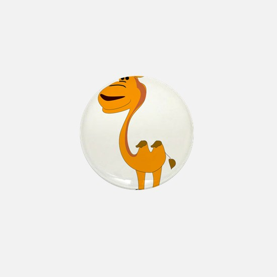 Yellow camel cartoon Mini Button