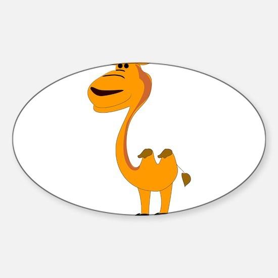 Yellow camel cartoon Stickers