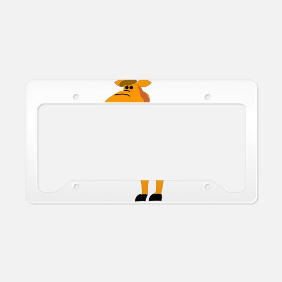 Yellow camel cartoon License Plate Holder