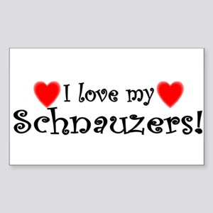 lovemultiple_schnauzer Sticker