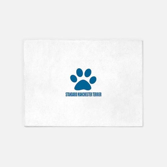 Standard Manchester Terrier Dog Des 5'x7'Area Rug