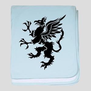 Griffin design silhouette baby blanket