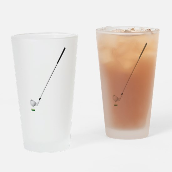 Golf club and ball Drinking Glass