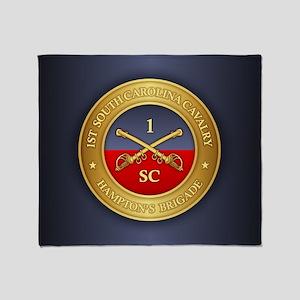 1st South Carolina Cavalry Throw Blanket