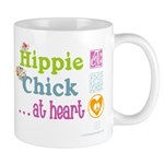 Hippie Chick at Heart (word mug) Mugs