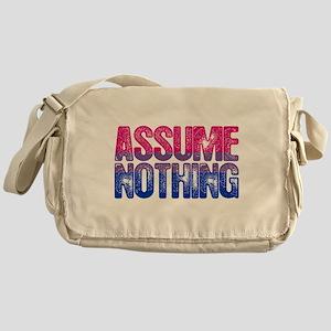 Assume Nothing Bisexual Pride Flag Messenger Bag
