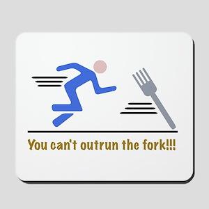 outrun the fork Mousepad