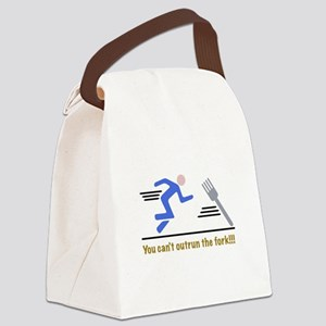 outrun the fork Canvas Lunch Bag