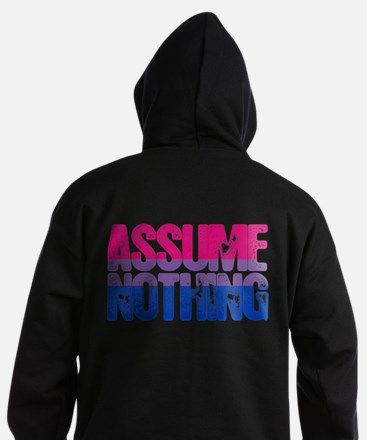Bisexual Assume Nothing Dark Hoodie