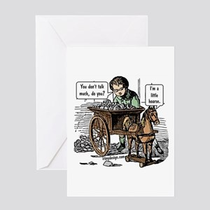 I'm a Little Hoarse! Horse Pun Greeting Card