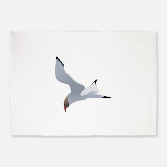 Seagull flying art 5'x7'Area Rug